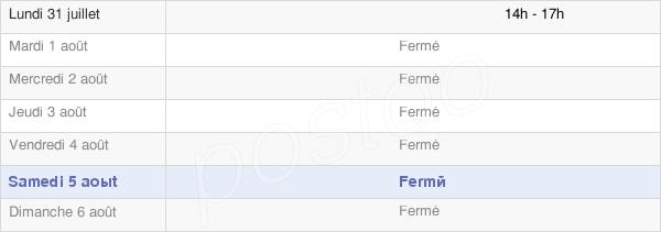 horaires d'ouverture de la Mairie De Chaume-Lès-Baigneux