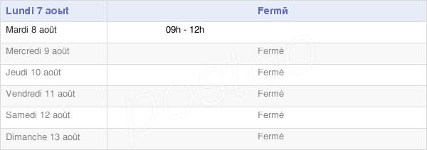 horaires d'ouverture de la Mairie De Menesble