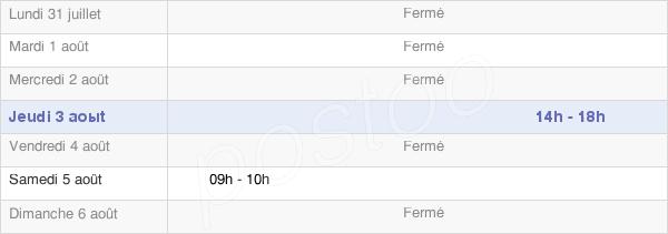 horaires d'ouverture de la Mairie D'Aubigny-Lès-Sombernon