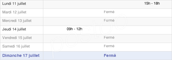 horaires d'ouverture de la Mairie De Belan-Sur-Ource