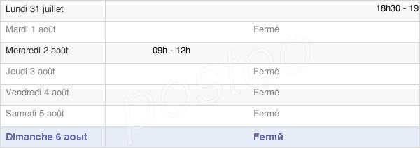 horaires d'ouverture de la Mairie De Tichey