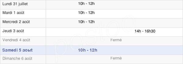 horaires d'ouverture de la Mairie De La Roche-En-Brenil