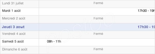 horaires d'ouverture de la Mairie De Magny-Lès-Villers