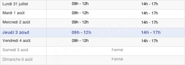 horaires d'ouverture de la Mairie De Saulieu
