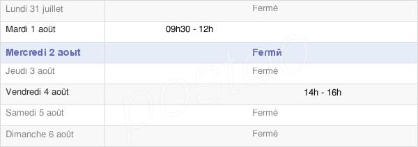 horaires d'ouverture de la Mairie De Dompierre-En-Morvan