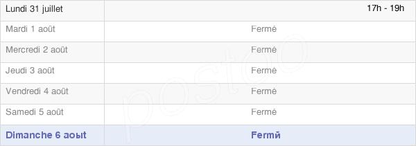 horaires d'ouverture de la Mairie De Beneuvre