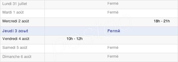 horaires d'ouverture de la Mairie D'Antheuil