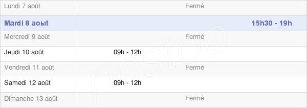 horaires d'ouverture de la Mairie De Thury