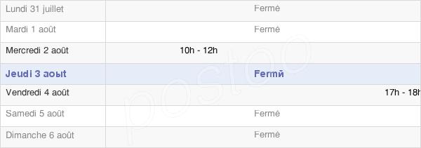 horaires d'ouverture de la Mairie De Echigey
