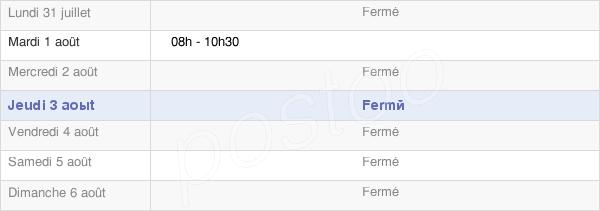 horaires d'ouverture de la Mairie De Poiseul-La-Grange