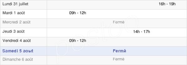 horaires d'ouverture de la Mairie De Messigny-Et-Vantoux