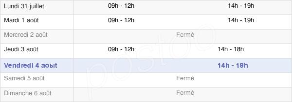 horaires d'ouverture de la Mairie De Chassagne-Montrachet