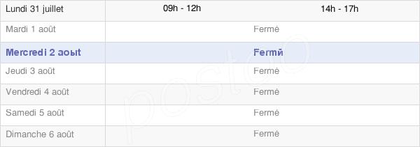 horaires d'ouverture de la Mairie De Quemigny-Sur-Seine