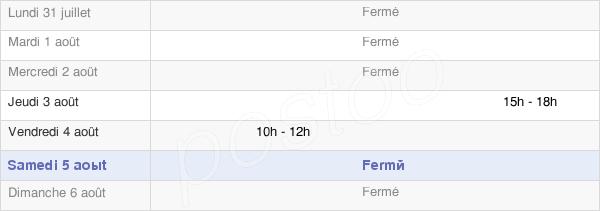 horaires d'ouverture de la Mairie D'Aubigny-La-Ronce