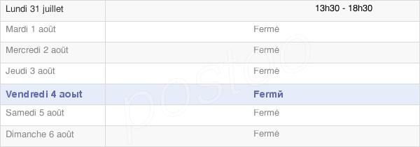 horaires d'ouverture de la Mairie De Montigny-Sur-Armançon