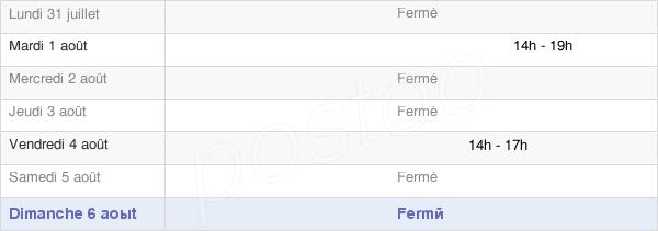 horaires d'ouverture de la Mairie De Gomméville