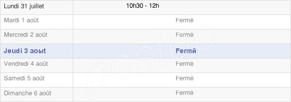 horaires d'ouverture de la Mairie De Trochères