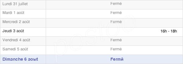 horaires d'ouverture de la Mairie De Fussey