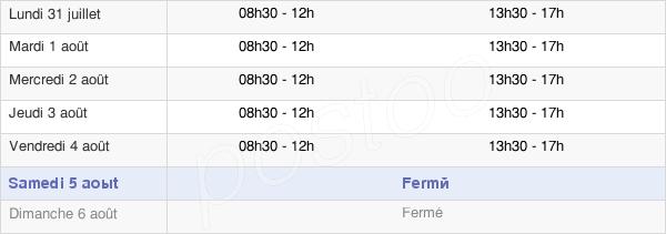 horaires d'ouverture de la Mairie De Pennes Mirabeau