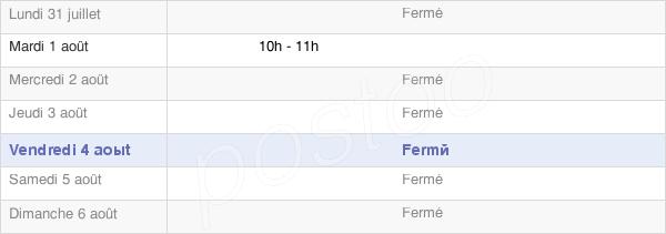 horaires d'ouverture de la Mairie De Champagny