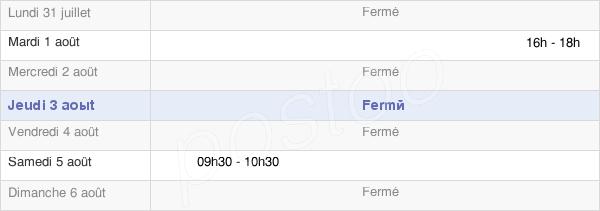 horaires d'ouverture de la Mairie De Vandenesse-En-Auxois