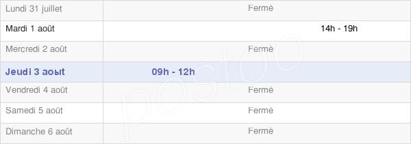 horaires d'ouverture de la Mairie D'Arceau