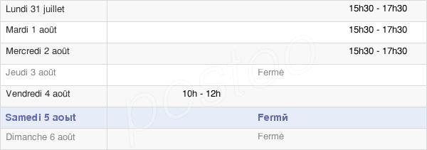 horaires d'ouverture de la Mairie De Alise Sainte Reine