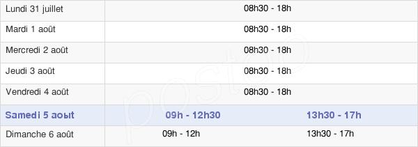 horaires d'ouverture de la Mairie De Dijon