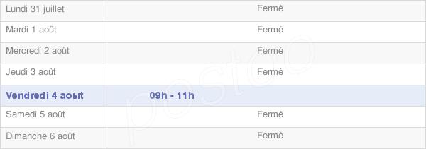 horaires d'ouverture de la Mairie De Posanges
