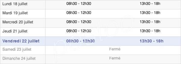 horaires d'ouverture de la Mairie De Berre-L'Étang