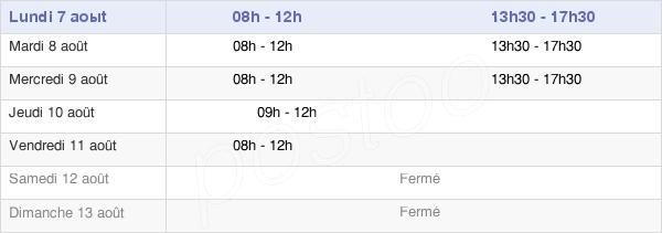 horaires d'ouverture de la Mairie De Leuglay