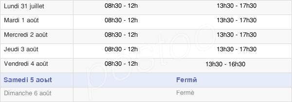 horaires d'ouverture de la Mairie De Châteaurenard-De-Provence