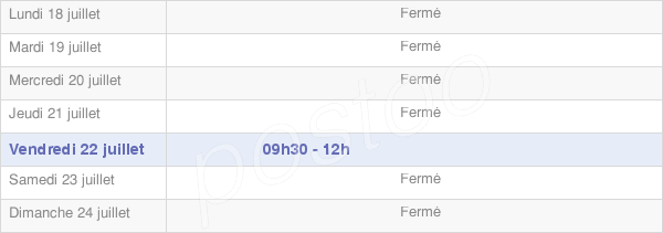 horaires d'ouverture de la Mairie De Montigny-Saint-Barthélemy