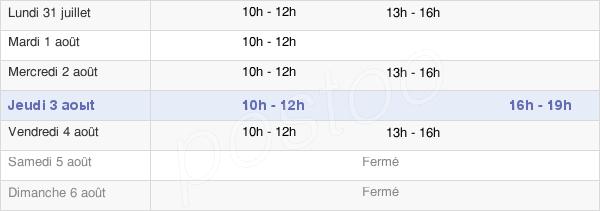 horaires d'ouverture de la Mairie De Nolay