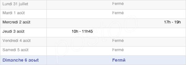 horaires d'ouverture de la Mairie De Flagey-Lès-Auxonne