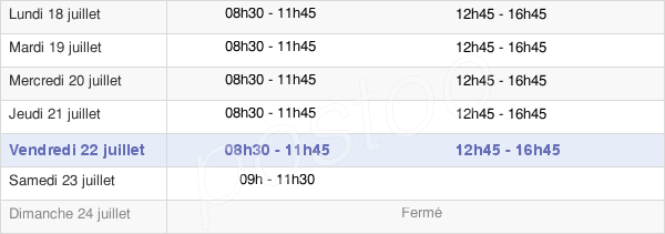 horaires d'ouverture de la Mairie De Marseille - Secteur Des 2e Et 3e Arrondissements
