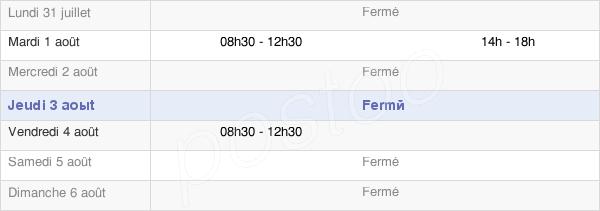 horaires d'ouverture de la Mairie De Commarin