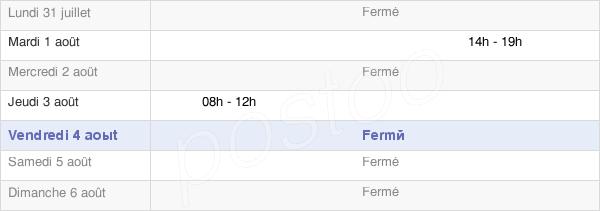 horaires d'ouverture de la Mairie De Villaine-Les-Prévôtes