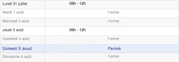 horaires d'ouverture de la Mairie D'Orville