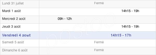 horaires d'ouverture de la Mairie De Saulon-La-Chapelle