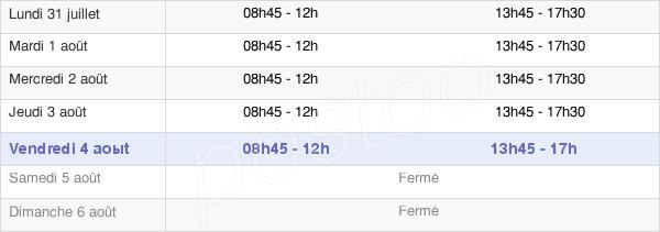 horaires d'ouverture de la Mairie De Genlis
