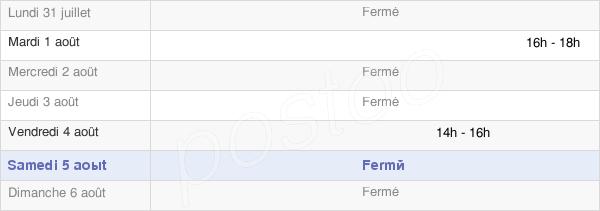 horaires d'ouverture de la Mairie De Nod-Sur-Seine