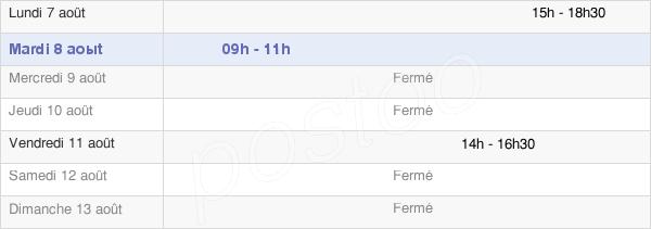 horaires d'ouverture de la Mairie De Saint-Philibert