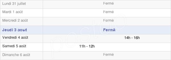 horaires d'ouverture de la Mairie D'Échannay