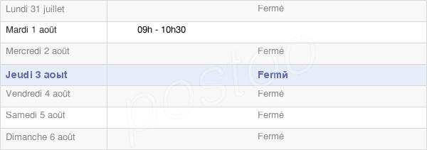 horaires d'ouverture de la Mairie De Normier