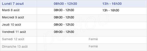 horaires d'ouverture de la Mairie De Beaurecueil