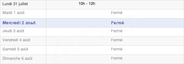 horaires d'ouverture de la Mairie De Bessey-En-Chaume