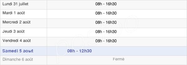 horaires d'ouverture de la Mairie D'Aix-En-Provence