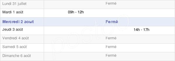 horaires d'ouverture de la Mairie De Bellenod Sur Seine