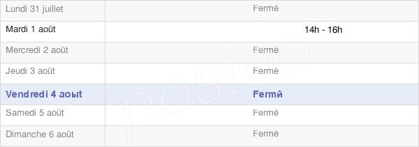 horaires d'ouverture de la Mairie De Villotte-Saint-Seine
